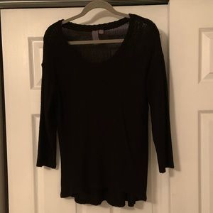 Francesca's Black Sweater with 3/4 sleeves